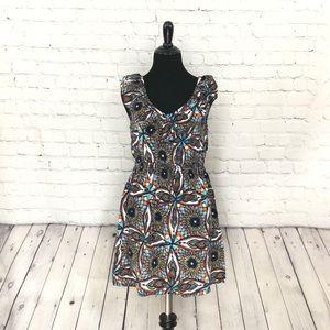 Summer Dress Multicolored Ruffles Medium